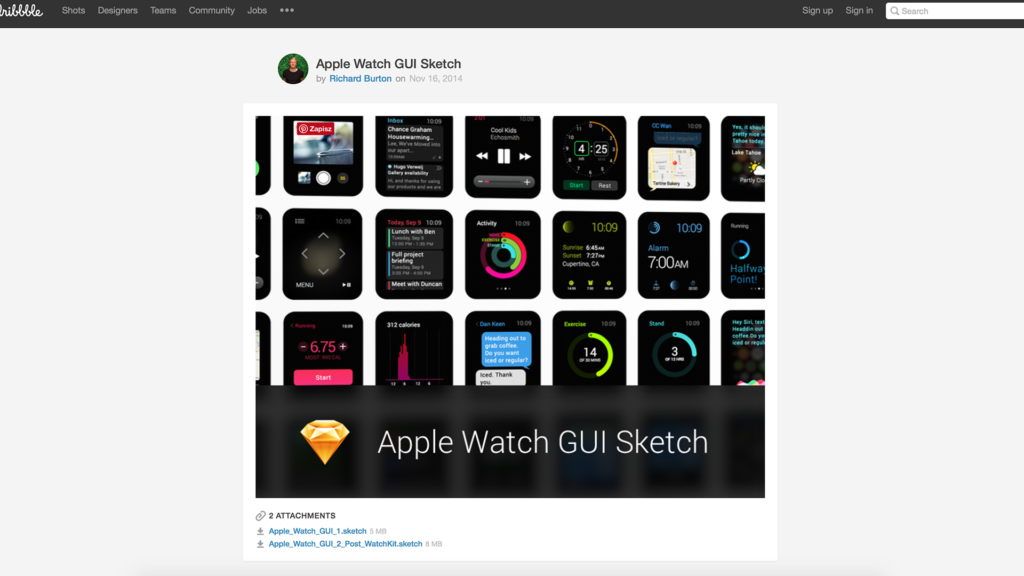 Apple Watch UI Design – The Best Free Resources