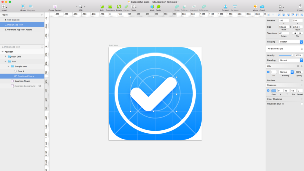 FREE iOS App Icon Template for Sketch | UXMISFIT.COM