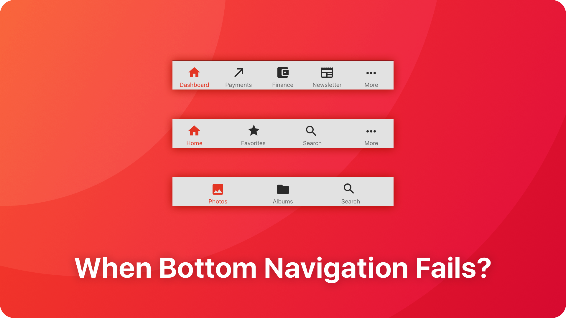 When Bottom Navigation Fails? Revealing the pain points